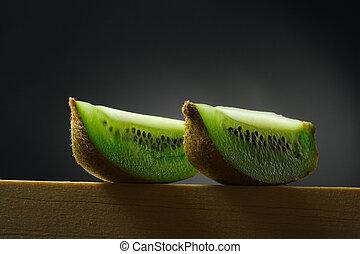 stilleben, med, kiwi frukt