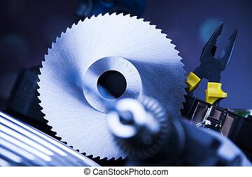 stilleven, met, constructor, gereedschap