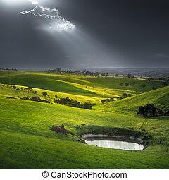 stillhet, oväder, för