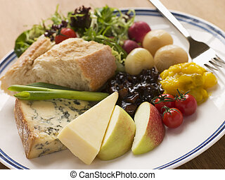 Stilton and Mature Cheddar Ploughman\'s