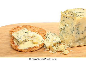 Stilton cheese and biscuits
