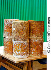 Stilton cheese - Traditional stilton blue cheese sold on...