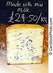 Stilton - Traditional stilton blue cheese sold on market