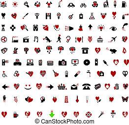 stilvoll, aus, valentine, 100, themed