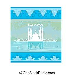 stilvoll, ramadan, kareem, karte