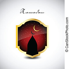 stilvoll, ramadan, kareem., vektor