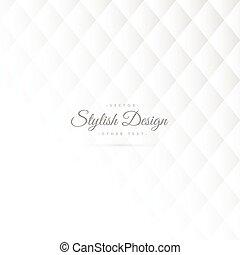 stilvoll, weißes, muster- design