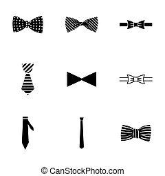 stimmengleichheiten, vektor, satz, schleife, ikone