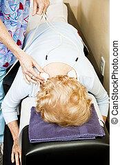stimulans, elektrisk, -, terapi, fysisk