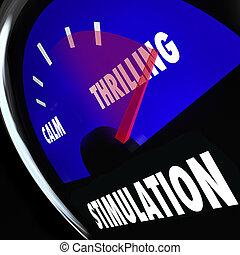 Stimulation Gauge Increasing Level Sexual Excitement Arousal...