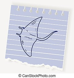 Stingray doodle