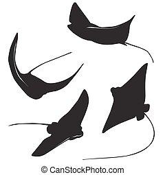 stingray vector silhouette