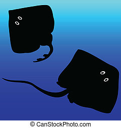 stingray vector silhouettes