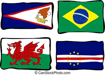 stinkande, flaggan