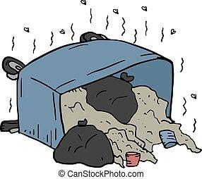creative design of stinking dumpster