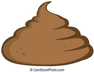 Stinky Pile Of Poop Cartoon Character