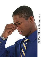 Stinky Smell - Young professional African American man...