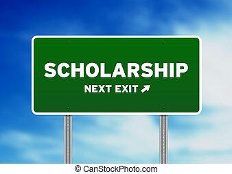 stipendium, straßenschild
