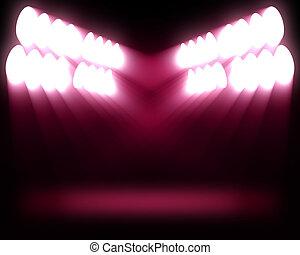 stippen, roze, lichten, strepen