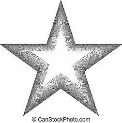 stipple, efecto de estrella