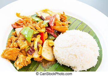 Stir fried chicken cashew
