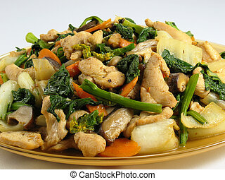 Stir-Fried Chicken & Veg