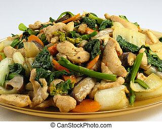 Stir-Fried Chicken & Veg