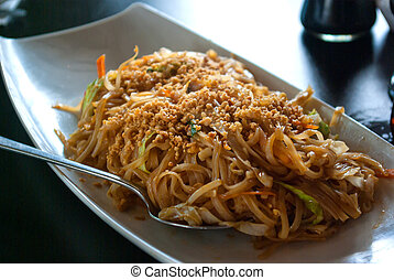 Stir-fried Chinese noodles  Chow mein