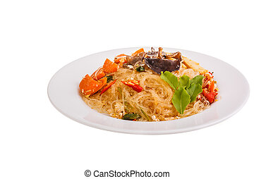 Stir-fried glass noodles