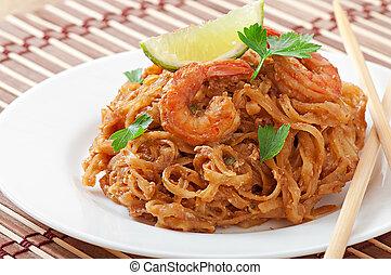 Stir-Fried noodles with prawns