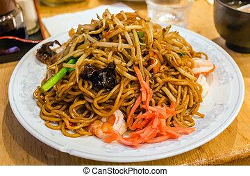 stir fried noodles, Yakisoba