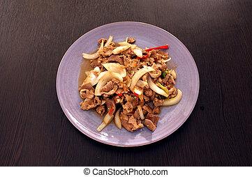 Stir fried Pork with Shrimp paste