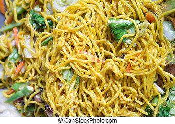 Stir-fried rice noodles - Delicious Stir-fried rice noodles...