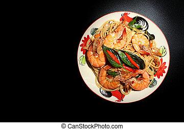 Stir fried spaghetti 2