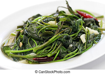 stir fried sweet potato leaves