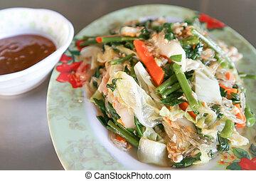 stir fried vegetable dish (Thai food)