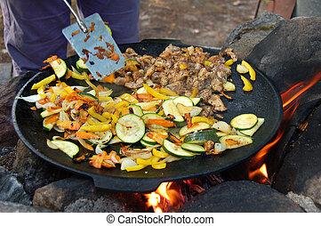 Stirfry - Campfire stirfry