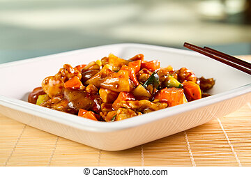 Stirfry chicken - Chinese specialty with chicken vegetables...