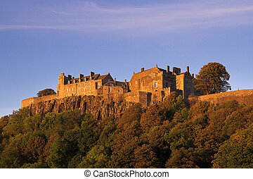 Stirling Castle In An Autumn Sunset - Stirling Castle in...