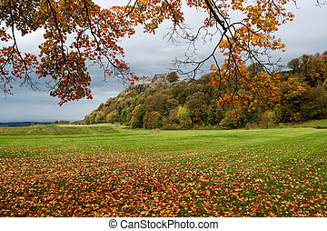 Stirling Castle Scotland from the Royal Gardens in Autumn