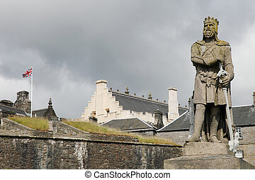 stirling - view on the entrance of the castle of stirling....