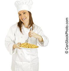 Stirring Pasta