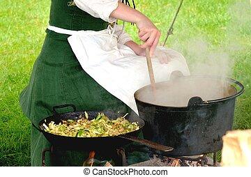 Stirring pot