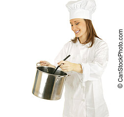 Stirring Sauce Or Soup