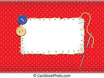stitched, botões, agulha, remendo