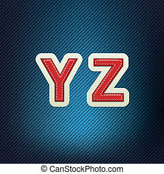 Stitched Fabric Font Y-Z