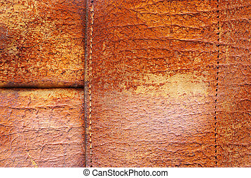 Stitched leather b - Old, worn, aged leather textured...