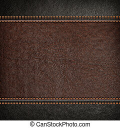 stitched leather background - Stitched leather background,...