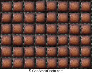 Stitched leather - Abstract generated stitched leather for...