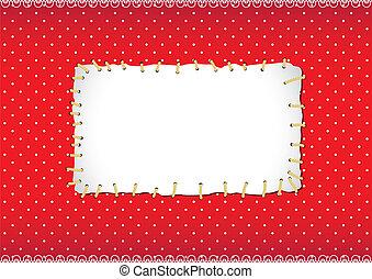 stitched, quadro, ponto polka, remendo
